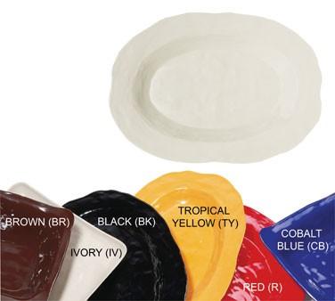 GET New Yorker Melamine Ivory Oval Platter - 17-3/4