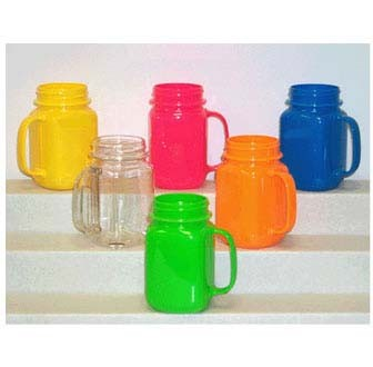 GET Orange Polycarbonate 16 Oz. Mason Jar