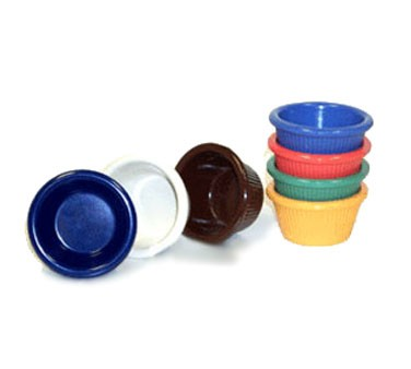 GET Peacock Blue Melamine 2 Oz. Fluted Ramekin - 2-3/4