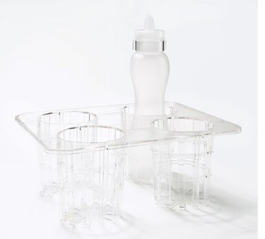 GET Polycarbonate 32 Oz. 4-Salad Dressing Bottles Complete Set