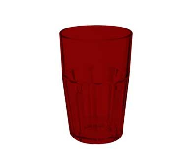 G.E.T. Enterprises 9910-1-R Red Bahama SAN Plastic 10 oz. Double Rocks Tumbler