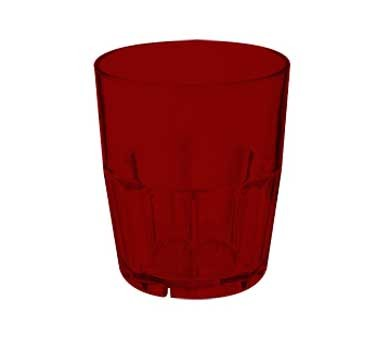 G.E.T. Enterprises 9912-1-R  Bahama 12 oz. Red  SAN Plastic  Tumbler Glass
