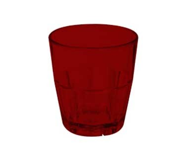 G.E.T. Enterprises 9955-1-R Red Bahama SAN Plastic 5.5 oz. Rocks Tumbler