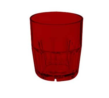 GET Red Bahama 9 Oz. Stackable Rocks Tumbler