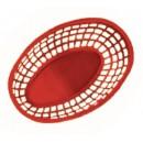 "G.E.T. Enterprises OB-938-R Red Bread and Bun Oval Basket 9-3/8"" x 6"""