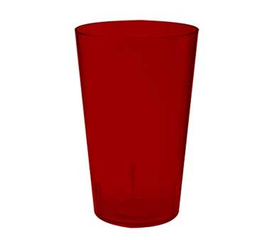G.E.T. Enterprises 5032-1-4-R Red SAN Textured 32 oz. Stackable Short Tumbler