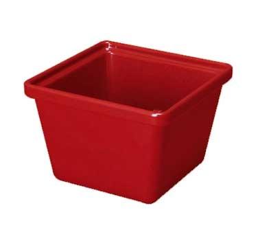 "G.E.T. Enterprises ML-148-RSP Red Sensation Melamine 28 oz. Square Salad Crock 4-3/4"" x 4-3/4"""