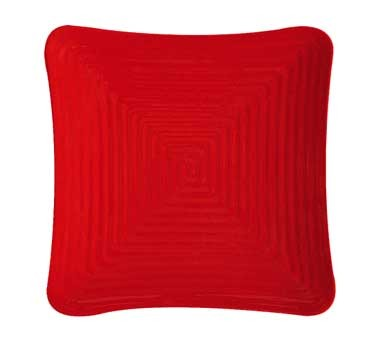 GET Red Sensation Melamine Square Plate - 10-1/4
