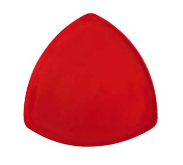 "G.E.T. Enterprises TP-12-RSP Red Sensation Melamine Triangle Plate 12"""