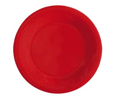 GET Red Sensation Melamine Wide Rim Plate - 10-1/2