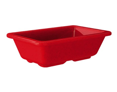 "G.E.T. Enterprises ML-123-RSP Red Sensation Melamine 4 oz. Side Dish 3"" x 4-3/4"""