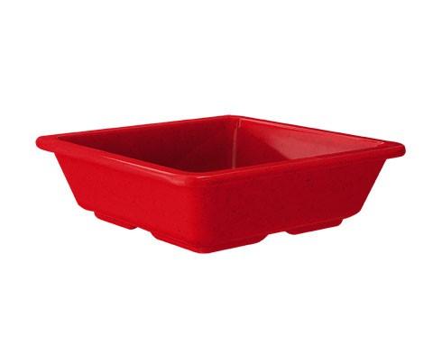 "G.E.T. Enterprises ML-122-RSP Red Sensation Melamine 6 oz. Side Dish 4-3/4"" x 4-3/4"""