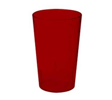 G.E.T. Enterprises 6605-1-6-R Red SAN Plastic 5 oz. Textured Tumbler