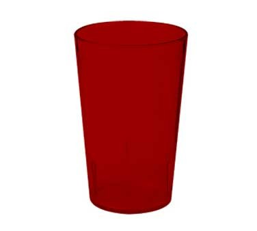 G.E.T. Enterprises 6608-1-6-R Red SAN Plastic 8 oz. Textured Tumbler