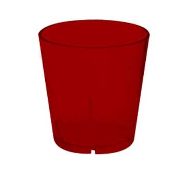 G.E.T. Enterprises 6609-1-6-R Red SAN Plastic 9 oz. Textured Tumbler
