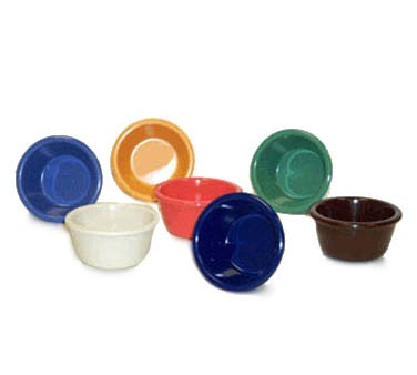 G.E.T. Enterprises RM-388-RO Rio Orange Melamine 3 oz. Smooth Ramekin