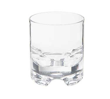 GET Rock & Roll Clear SAN Plastic 9 Oz. Rock Glass