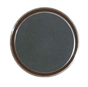 G.E.T. Enterprises RCT-14-BR Round Non-Skid Cork-Lined Brown Polypropylene Tray 14""