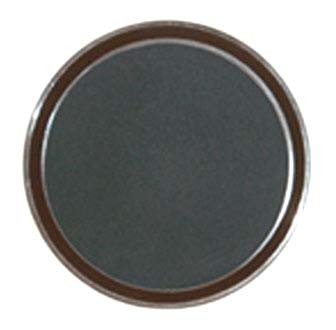 G.E.T. Enterprises RCT-16-NS Round Non-Skid Brown Polypropylene Tray 16""
