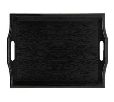 "G.E.T. Enterprises RST-1815-1-BK Black Plastic Room Service Tray 18"" x 14"""