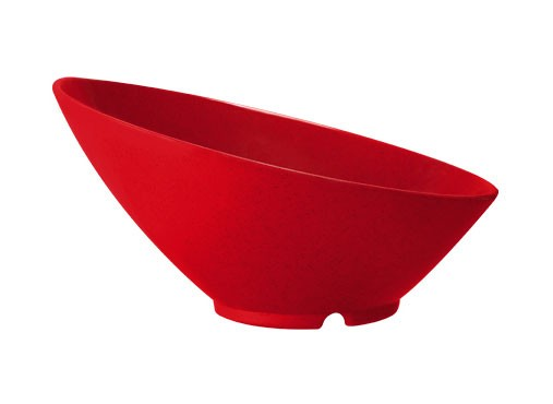 GET San Michele 24 Oz. Red Sensation Cascading Bowl - 9-1/4