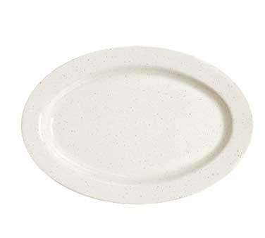 "G.E.T. Enterprises M-4020-IR Santa Fe Ironstone Melamine Oval Platter, 14"" x 10"""
