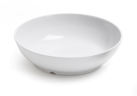 GET Siciliano 40 Oz. Melamine White Bowl - 8-1/2