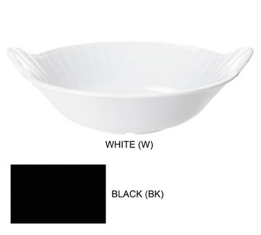GET Siciliano Melamine 2 Quart Tuxedo Black Bowl - 12-1/2