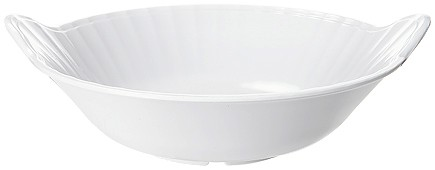 G.E.T. Enterprises ML-94-W Siciliano Melamine 3 Qt. White Bowl