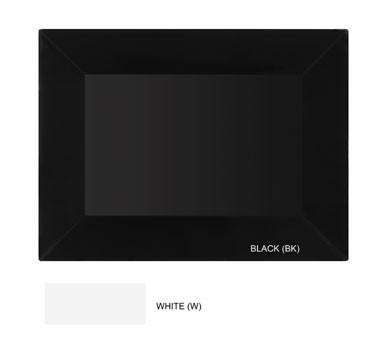 "G.E.T. Enterprises ML-99-BK Siciliano Melamine Black Rectangular Tray 24"" x 18"""