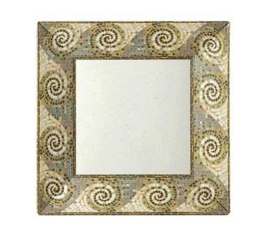 GET Siciliano Melamine Mosaic Square Plate - 8