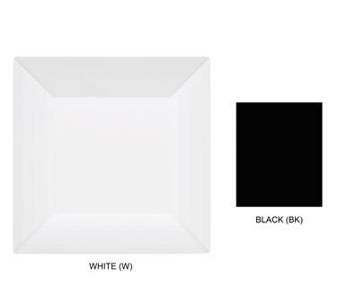 "G.E.T. Enterprises ML-102-BK Siciliano Black Melamine Square Plate 6"" x 6"""