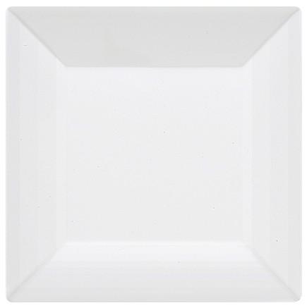 GET Siciliano Melamine Tuxedo White Square Plate - 8