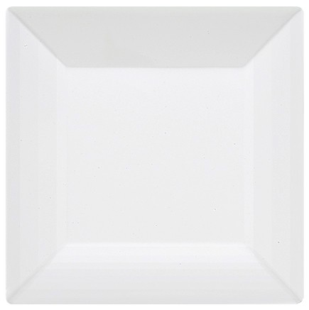 "G.E.T. Enterprises ML-104-W Siciliano White Melamine Square Plate 10"" x 10"""