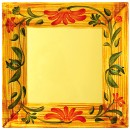 "GET Siciliano Melamine Venetian Square Plate - 12"" x 12"""