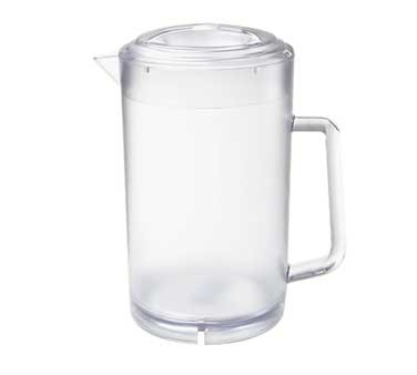 G.E.T. Enterprises P-3064-1-CL Clear SAN Plastic 64 oz. Water Pitcher with Lid