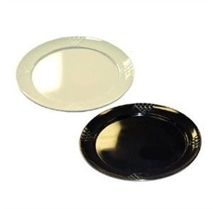 GET Sonoma Bone White Melamine Round Plate - 16