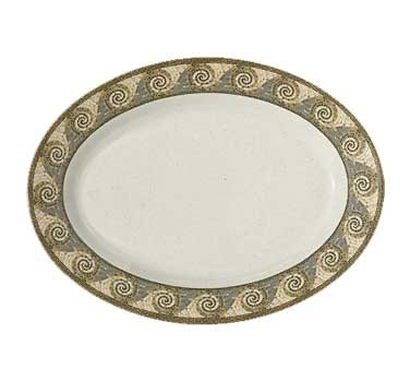 "G.E.T. Enterprises OP-630-MO Mosaic Melamine Oval Platter, 30"" x 20-1/4"""