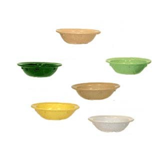 GET Supermel 3.5 Oz. Sandstone Rimmed Fruit Bowl - 4-1/8