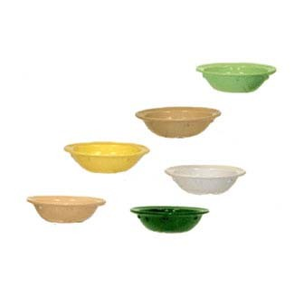 GET Supermel 5 Oz. Hunter Green Rimmed Fruit Bowl - 4-5/8