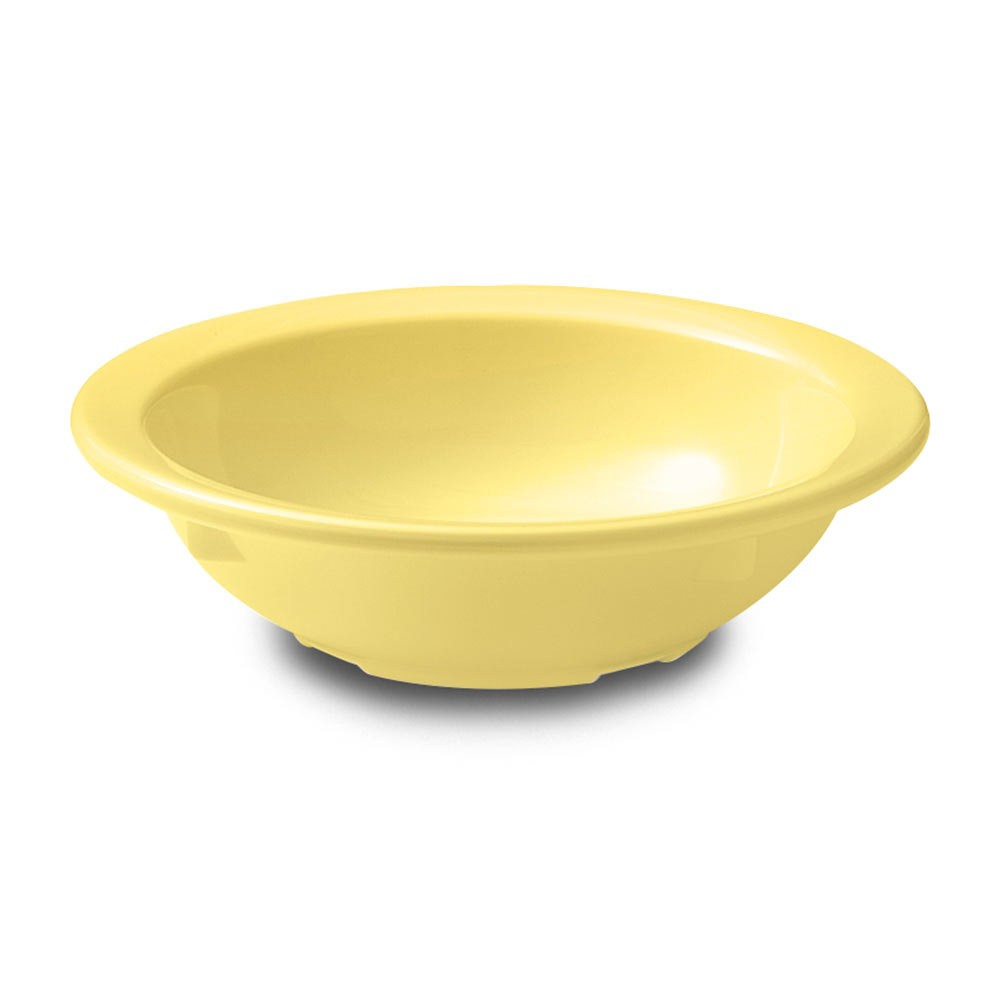 GET Supermel 5 Oz. Yellow Rimmed Fruit Bowl - 4-5/8
