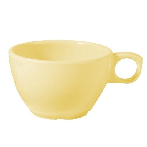 GET Supermel 7.5 Oz. Melamine White Ovide Coffee Cup - 3-1/4