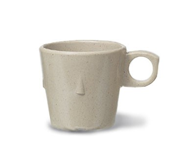 GET Supermel 7.5 Oz. Sandstone Conic Stacking Cup - 3-1/4