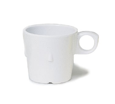 G.E.T. Enterprises DC-101-W SuperMel White 7.5 oz. Conic Stacking Cup