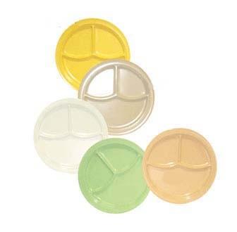 GET Supermel Green 3-Compartment Deep Plate - 10