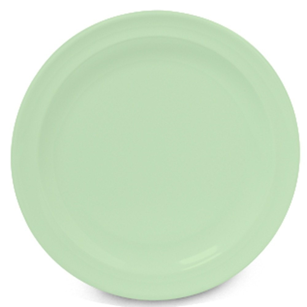 GET Supermel Green Melamine Lunch Plate - 8