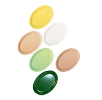 GET Supermel Green Melamine Oval Platter - 9-7/8