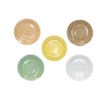 GET Supermel Green Saucer For DC-100/DC-101 Cups - 5-3/4