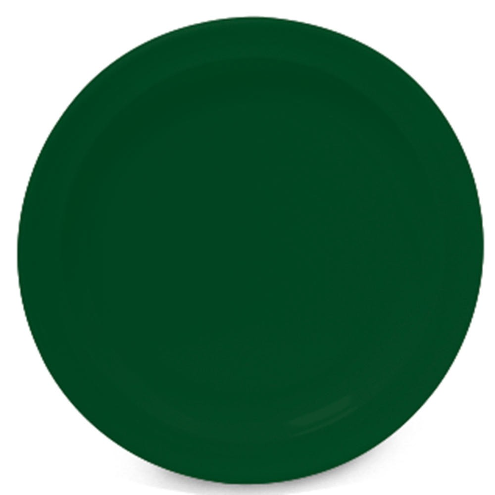 GET Supermel Hunter Green Melamine Dinner Plate - 9