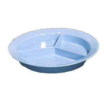 GET Supermel II Polycarbonate Slate Blue 3-Compartment Plate - 9